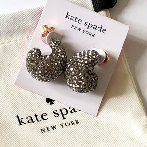 Kate Spade Pave Crystal Earrings .